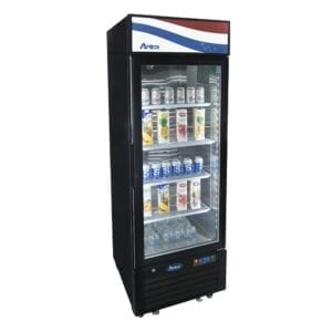 Atosa MCF8725GR One-Section Glass Door Refrigerator