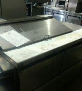 Stainless-Steel Sandwich Prep Table